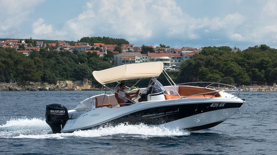 Krk, Croazia: Barracuda 686 with 200HP
