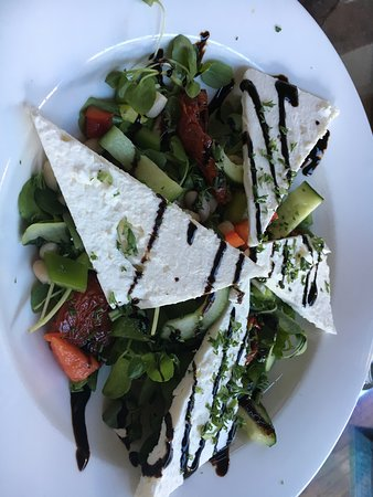 Milton, UK: watercress feta salad