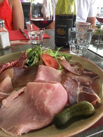 Restaurant La Salle Des Gardes Raclette Meats Comes Also With Potatoes