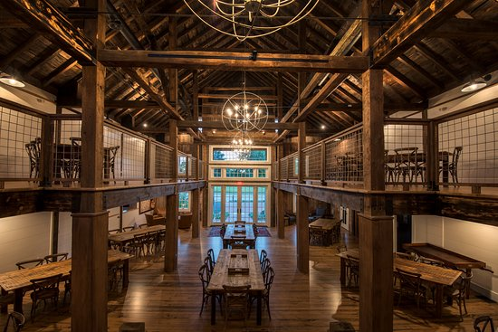 Wolfeboro, NH: The restored 19th century barn is a wonderful venue for private & Pickering House events.