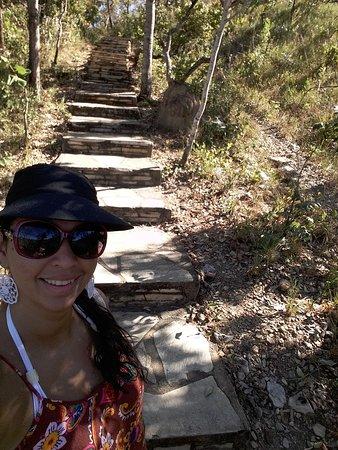 Cachoeira Santa Maria: trilha boa de andar, pode ir de chinelo
