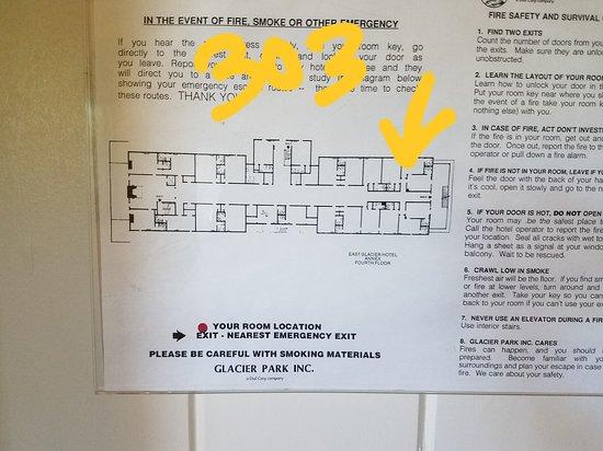 Glacier Park Lodge: Room floor plan