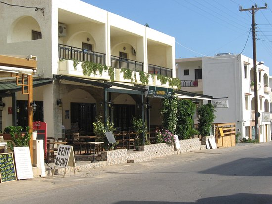 Katerina Taverna: recently added out door decking eating area