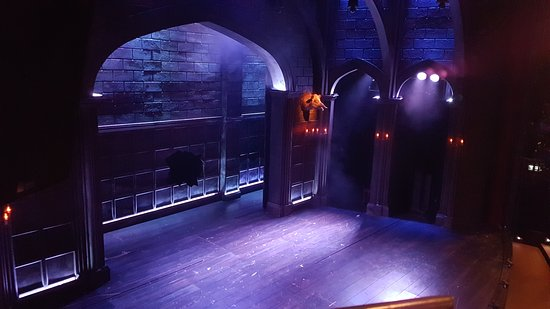 English Theatre: The set for Hound of the Baskervilles.