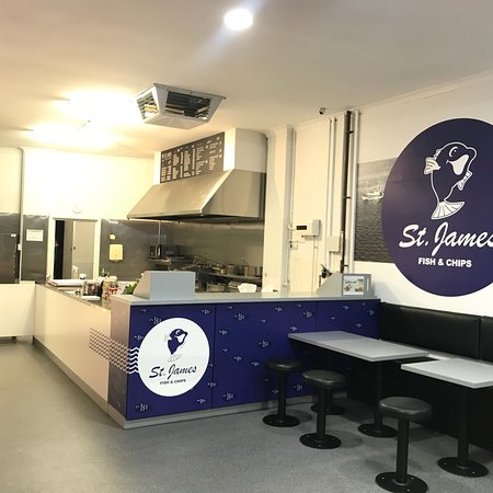 St James, Australie : Gourmand  Fish & Chips