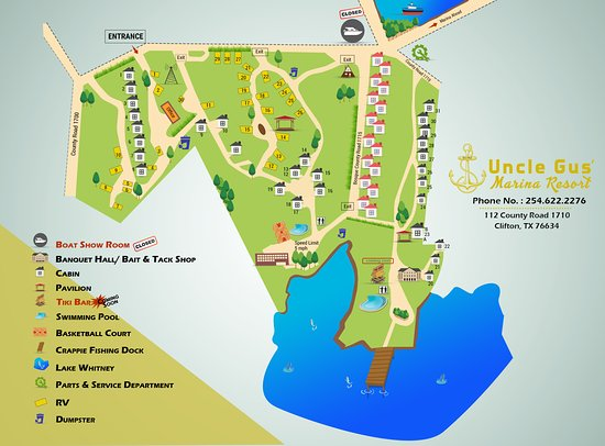Landform Map Of Texas.Uncle Gus Marina Park Map Picture Of Uncle Gus Marina And Resort
