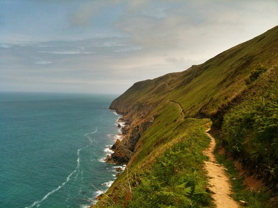 Ceredigion, UK: A head for heights is required between Llangrannog and Cwmtydu