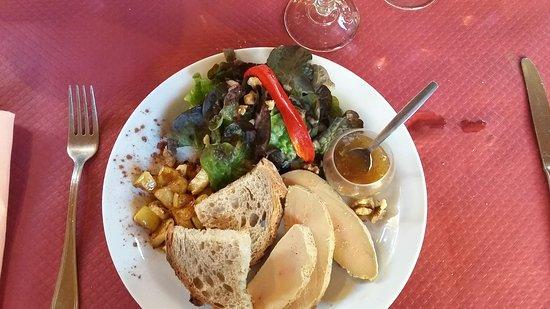 Degagnac, Frankreich: entrée, foie gras bien fondant