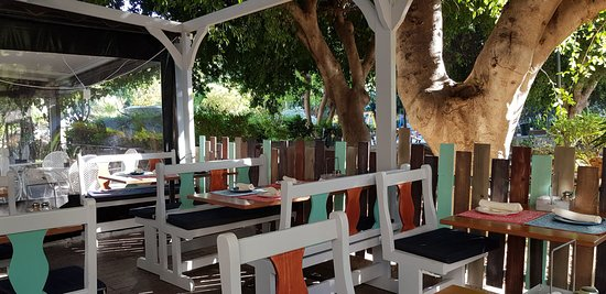 Amalias Kitchen: The tables under the tree