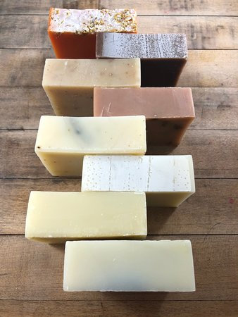Blue Hill, ME: There are many different beauty products at the Co-op, including locally made soap!