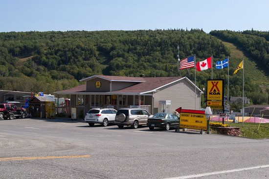 Saint-Mathieu-de-Rioux, Canada: Accueil du camping