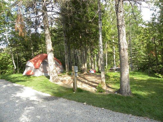 Saint-Mathieu-de-Rioux, Canada: Site de tente 2 services (eau, électricité)