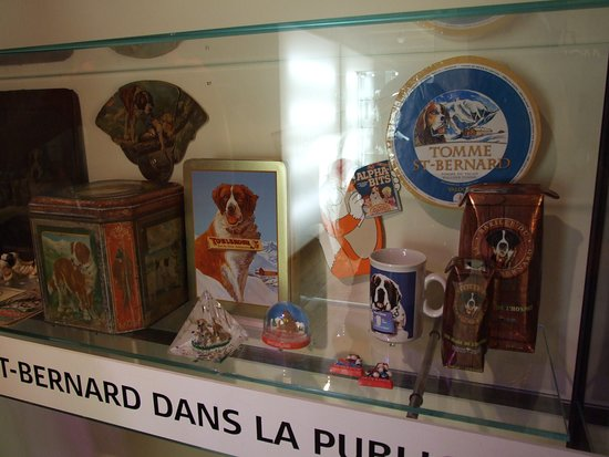 Barryland - Musee et Chiens du St-Bernard: Some of the items on display in the museum