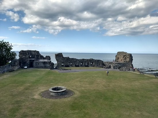 St Andrews Castle: From the entrance out towards the sea
