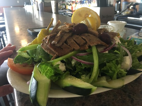 Jackson, WI: Salad with Gyro Meat