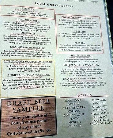 Denver, NC: Beer list