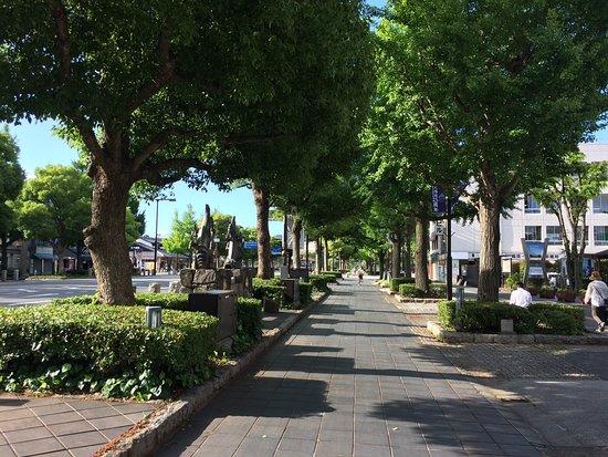 Otemae Street: Tree lined avenue