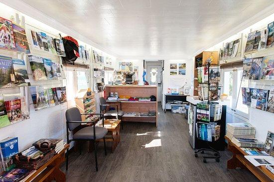 """Mackenzie, Canada: Inside the """"Caboose"""" Vistor Centre"""