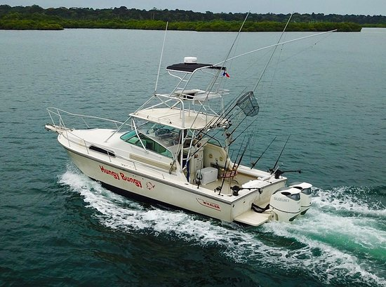 Bocas Town, Panama: Hungy Bungy, our custom Boston Whaler express sportfishing machine