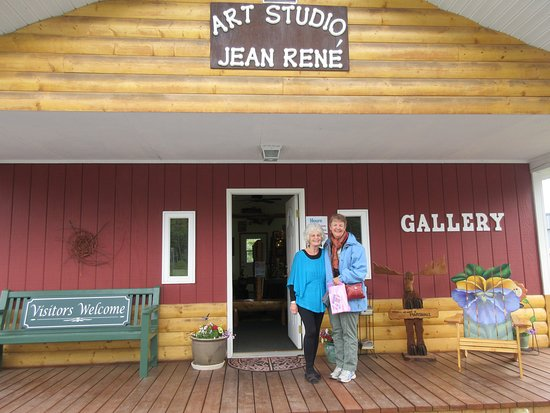 Copper Center, AK: Jean Rene and visitor