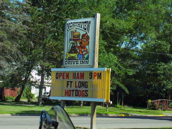 Webster, WI: the sign, visible from Hwy 35