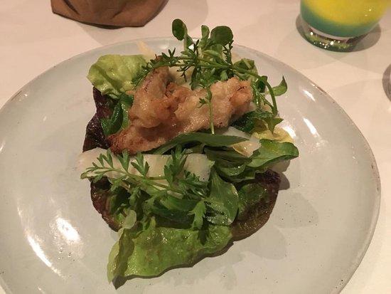 Flea Street Cafe: Fried herring salad- delicious