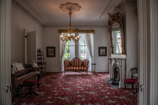 Interior of one room in Bellamy Mansion