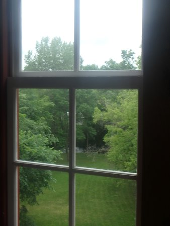 Glenwood, MN: the view outside the 3rd floor window of the mill