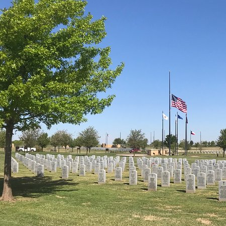 Abilene, TX: This was taken on the road that goes through the cemetery. Along the south side looking north.