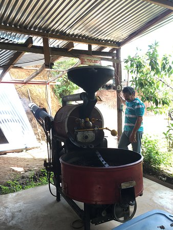 Atenas, Costa Rica: roasting the beans