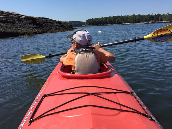 Fun with my son - Picture of Tidal Transit Kayak, Boothbay Harbor