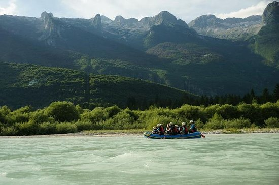 Family Rafting On The Soca River