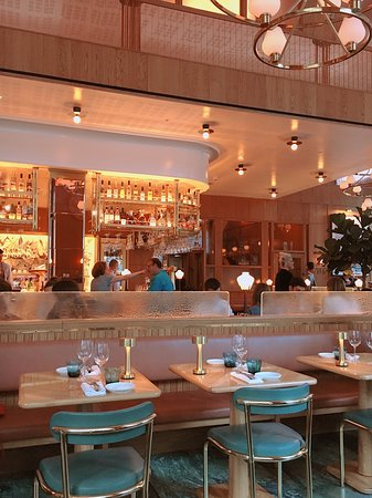 Interior design of Aquavit - looks exactly like what you see in photos!