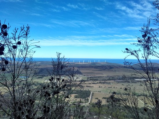 Port Elizabeth, Dél-Afrika: View from the top showing wind farm