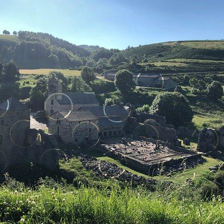 Mazan-l'Abbaye, Prancis: L'œuvre que vous pouvez apercevoir sur l'ensemble des bâtiments du village , à voir!