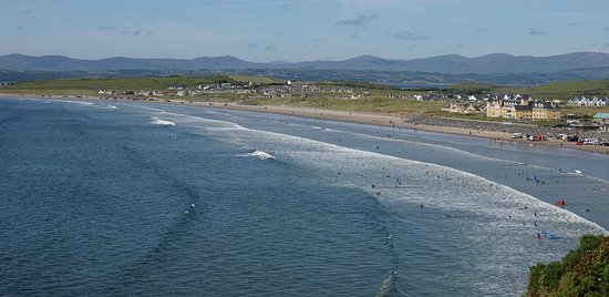 Rossnowlagh Bay showing the prime position of the hotel