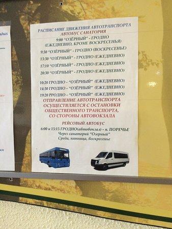 Grodno Region, Bielorrússia: Расписание