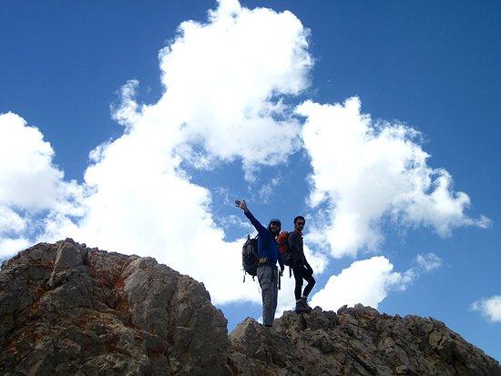 Mazandaran Province, Iran: Climbing from ridge route