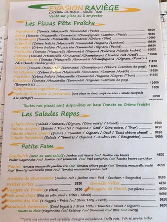 La Salvetat-sur-Agout, France: notre menu