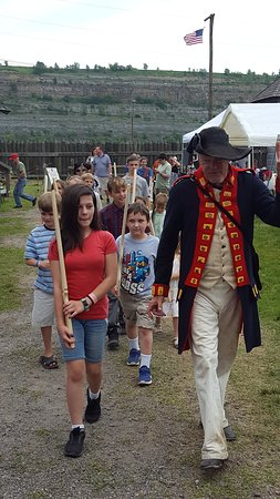 Steubenville, OH: Learning about the soldier's drill during Ohio Valley Frontier Days, the first weekend in June.