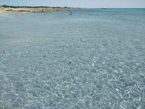 Spiaggia sa prama a cala liberotto, inizio luglio 2018