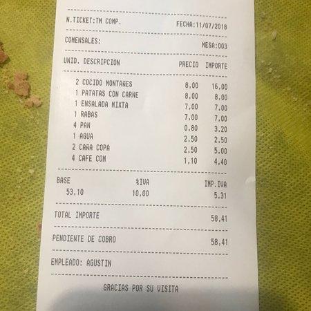 Reocin, Spain: Restaurante Bar Cuesta