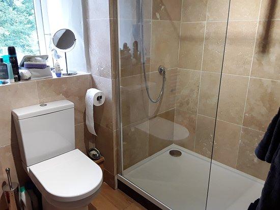 . Modern Shower  Bath and W C    Picture of Plas Llanfair Holiday