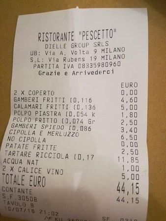 Img20180710221342largejpg Foto Di Pescetto Milano Tripadvisor