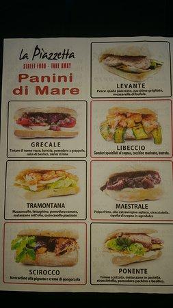 Rosa Marina, Italie: Panini di mare gourmet