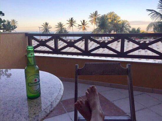 Prainha: Vista da varanda do hotel Laguna Blue