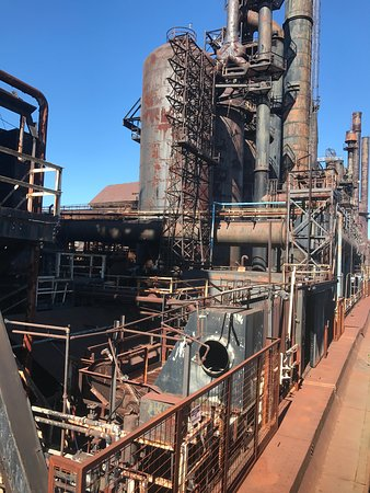 Sands Casino: Remnants of Bethlehem Steel Plant- guests walk past this to go into Sand'sSteel stacks