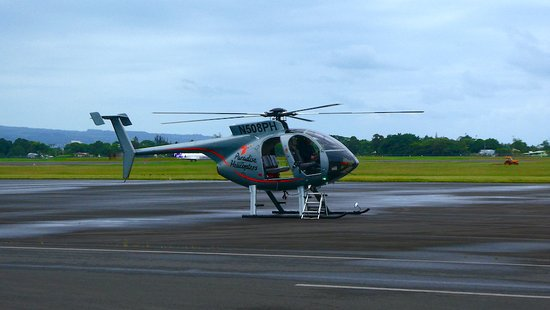 Paradise Helicopters - HILO: The doors-off helicopter for the flight to the lava rivers