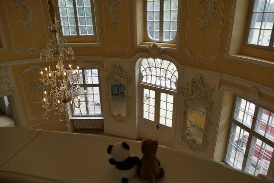 Plon, Jerman: Gartensaal mit Musikerbalkon