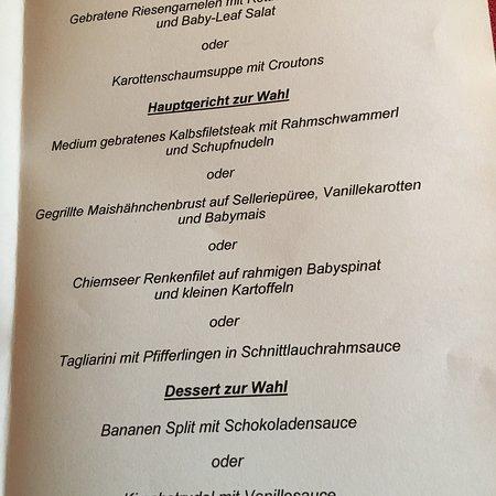 Grassau, Germania: Abendessen